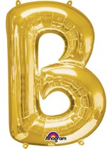 """34"""" Gold Letter B Foil Balloon"""