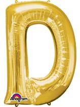 "34"" Gold Letter D Foil Balloon"