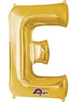 """34"""" Gold Letter E Foil Balloon"""
