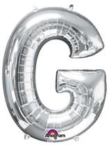 "34"" Silver Letter G Foil Balloon"