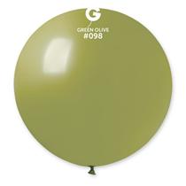 "Gemar Standard Olive 31"" (2.5ft) Latex Balloons 1pk"