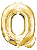 "34"" Gold Letter Q Foil Balloon"