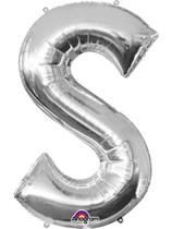 "34"" Silver Letter S Foil Balloon"
