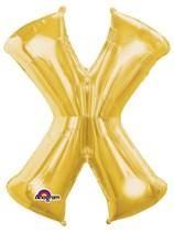 "34"" Gold Letter X Foil Balloon"