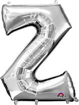 "34"" Silver Letter Z Foil Balloon"