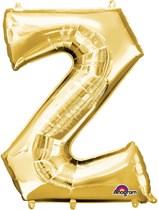 """34"""" Gold Letter Z Foil Balloon"""