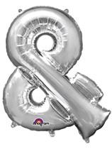 "34"" Silver & Symbol Foil Balloon"