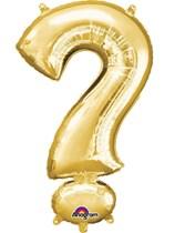 "34"" Gold Question Mark Symbol Foil Balloon"