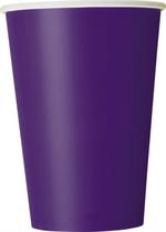 Deep Purple 12oz Large Paper Cups 10pk