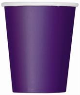 Value Pack Deep Purple 9oz Paper Cups 14pk