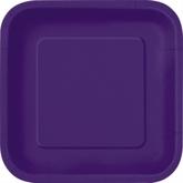 "Deep Purple 9"" Square Paper Plates 14pk"