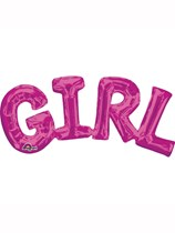 """Pink Girl Air Fill 22"""" Shape Foil Balloon"""