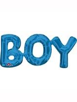 """Blue Boy 20"""" Air Fill Shape Foil Balloon"""