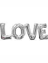 """Silver Love Air Fill 25"""" Shape Foil Balloon"""