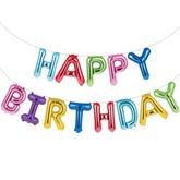 "Multi Coloured Happy Birthday 16"" Foil Balloon Banner"