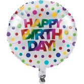 """Rainbow Happy Birthday 18"""" Foil Balloon"""