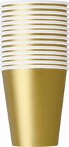 Value Pack Gold 9oz Paper Cups 14pk