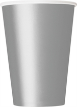 Silver 12oz Large Paper Cups 10pk