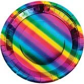 Rainbow Foil 22cm Paper Plates 8pk