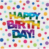 Rainbow Happy Birthday Napkins 16pk