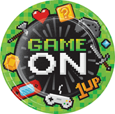 Game On 22cm Paper Plates 8pk