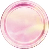 Iridescent Pink 18cm Paper Plates 8pk