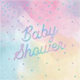 Pastel Iridescent Baby Shower Lunch Napkin 16pk