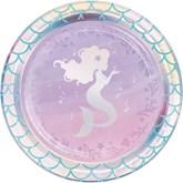 Iridescent Mermaid 18cm Paper Plate 8pk