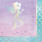 Iridescent Mermaid Lunch Napkin 16pk