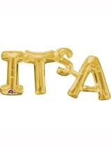 "Gold It's A... 20"" x 9""Air Fill Shape Foil Balloon"