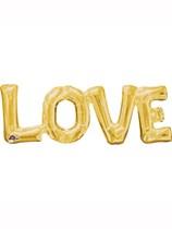 """Gold Love Air Fill 25"""" Shape Foil Balloon"""