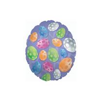 Easter Egg Polka Dots Mini Shape Foil Balloon