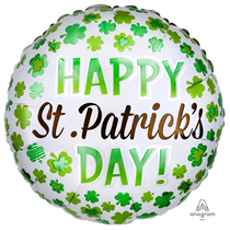"St. Patrick's Day Shamrock 18"" Foil Balloon"