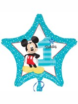 "Mickey Mouse 1st Birthday 18"" Star Foil Balloon"