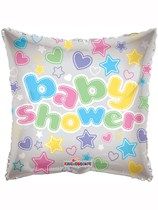 """18"""" Square Pastel Baby Shower Foil Balloon"""