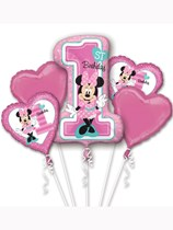 Minnie Mouse 1st Birthday Foil Balloon Bouquet