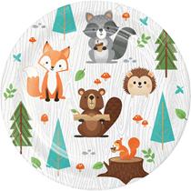 Woodland Animals 18cm Paper Plates 8pk