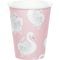 Stylish Swan Party Paper Cups 8pk
