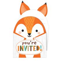 Woodland Animals Pop Up Invitations & Envelopes 8pk
