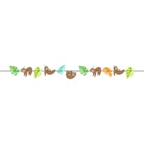 Sloth Party Ribbon Banner 2.7M