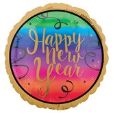 """Happy New Year Colourful 18"""" Foil Balloon"""