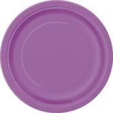 """Pretty Purple 7"""" Round Paper Plates 8pk"""
