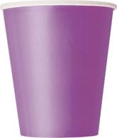 Pretty Purple 9oz Paper Cups 8pk