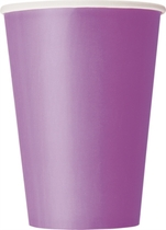 Pretty Purple 12oz Large Paper Cups 10pk