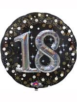 "Gold Celebration 18th Birthday 3D Supershape 36"" Foil Balloon"