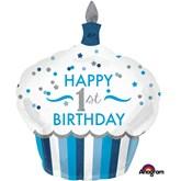 """1st Birthday 36"""" Supershape Foil Balloon"""