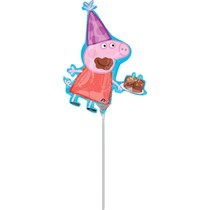 """Peppa Pig Birthday Cake Mini 13"""" Air Fill Foil Balloon"""