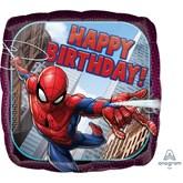 "Spider-Man Happy Birthday Square 18"" Foil Balloon"