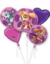 Pink Paw Patrol Foil Balloon Bouquet