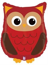 """Woodland Critters Owl 26"""" Supershape Foil Balloon"""